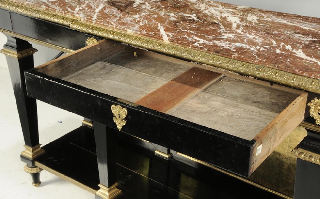 Louis XVI Ebonized Gilt Bronze Console Desserte - 4