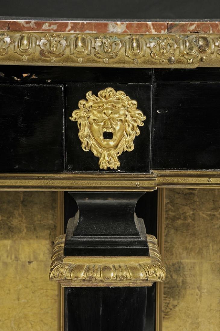 Louis XVI Ebonized Gilt Bronze Console Desserte - 5