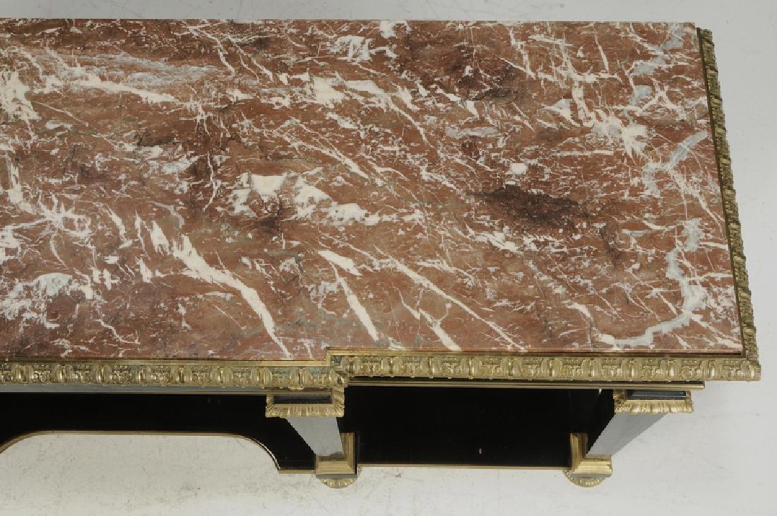 Louis XVI Ebonized Gilt Bronze Console Desserte - 7