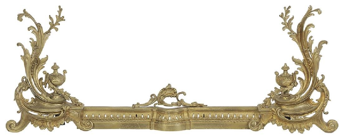 Set of Louis XV Style Gilt Bronze Chenets