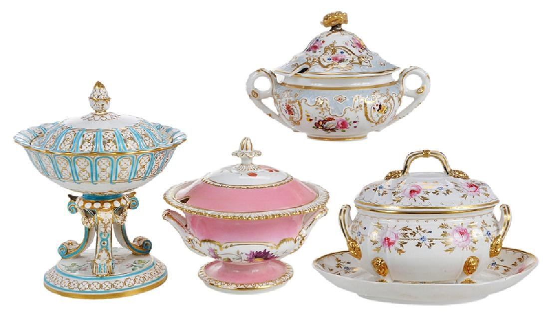 Four Covered Sauce Tureens
