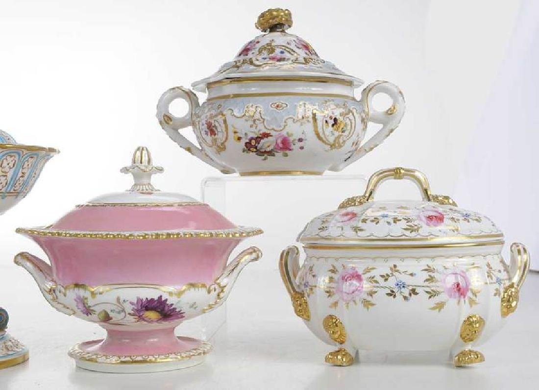 Four Covered Sauce Tureens - 3