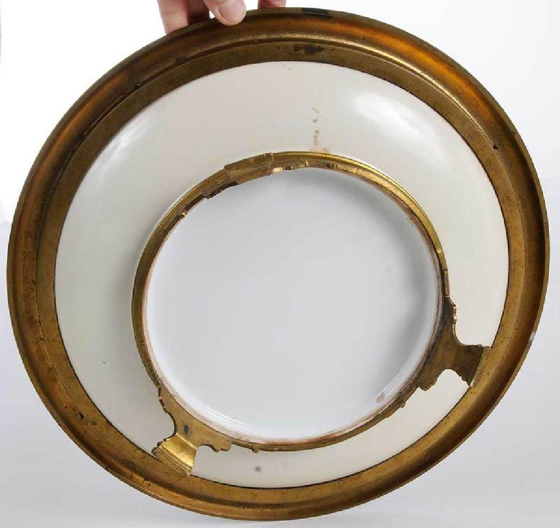 Sevres Style Plate With Enameled Bronze Mounts - 6