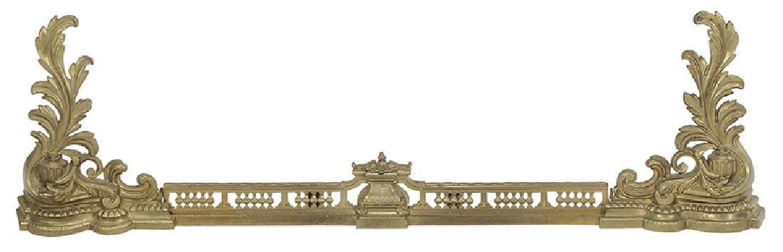 Set of Louis XV Style Gilt Bronze Chenets