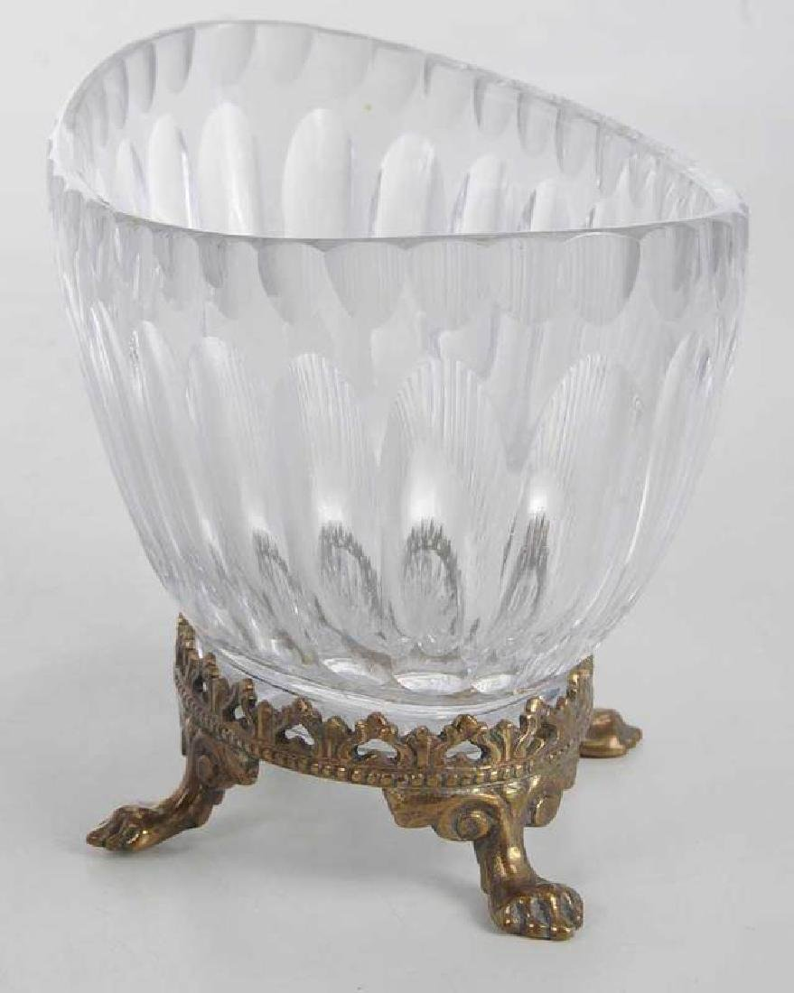 Three Neoclassical Bronze Mounted Crystal Bowls - 6