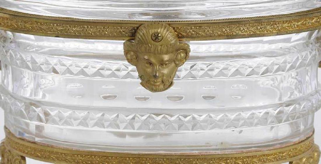 Three Neoclassical Bronze Mounted Crystal Bowls - 7