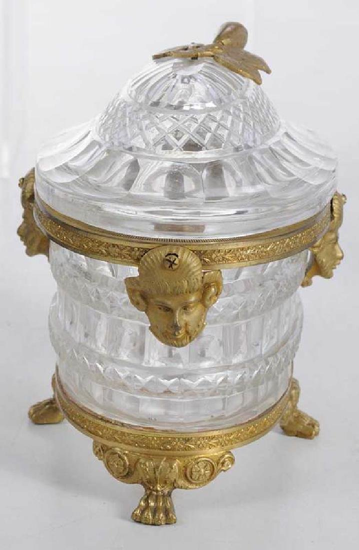Three Neoclassical Bronze Mounted Crystal Bowls - 8