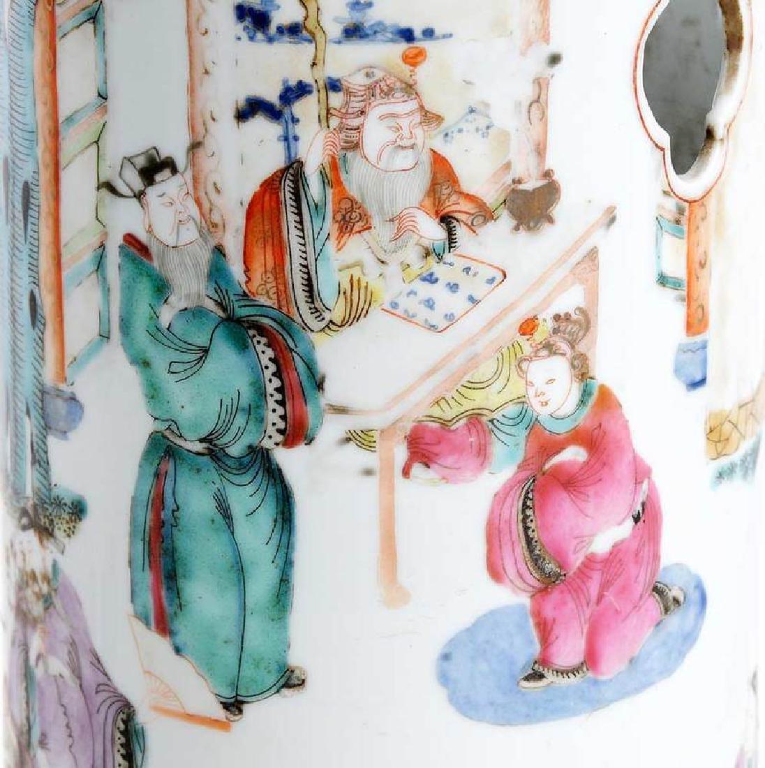 Pair Chinese Hat Vases - 4