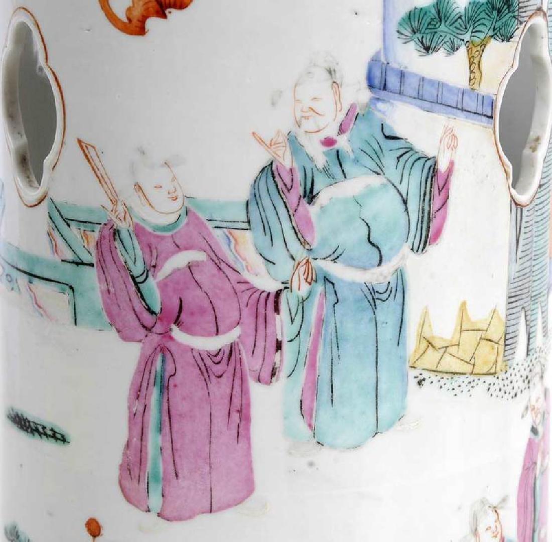 Pair Chinese Hat Vases - 6