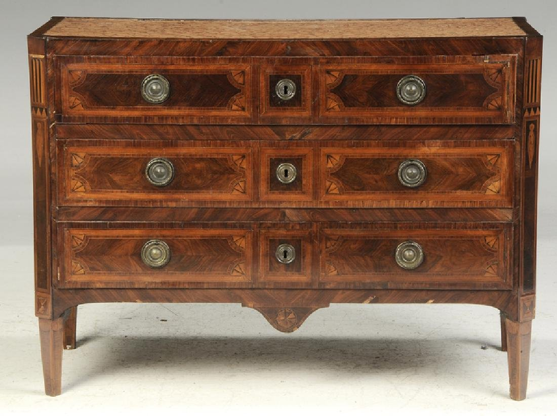 Italian Neoclassical Parquetry Inlaid Commode - 4