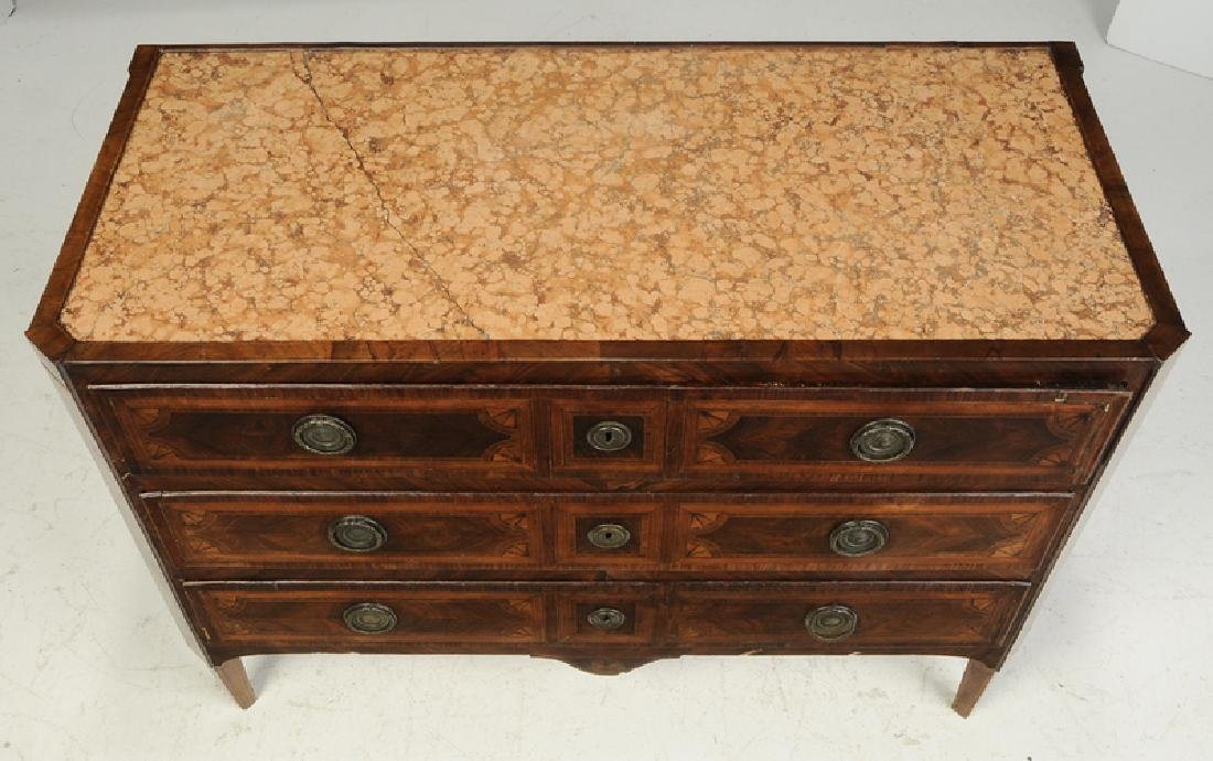 Italian Neoclassical Parquetry Inlaid Commode - 5