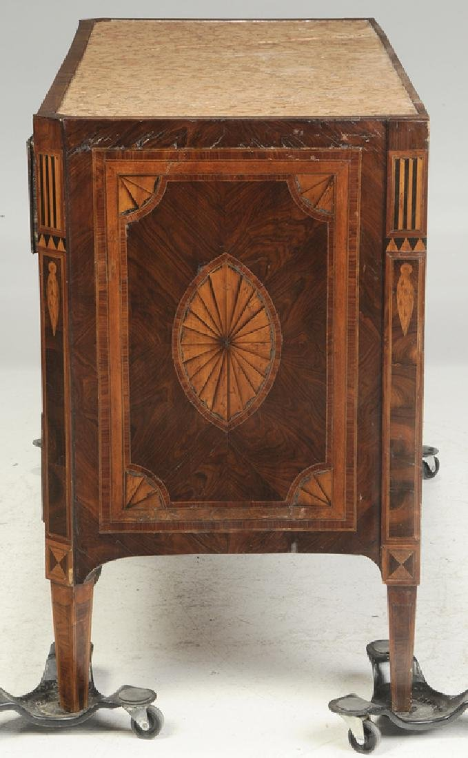 Italian Neoclassical Parquetry Inlaid Commode - 7