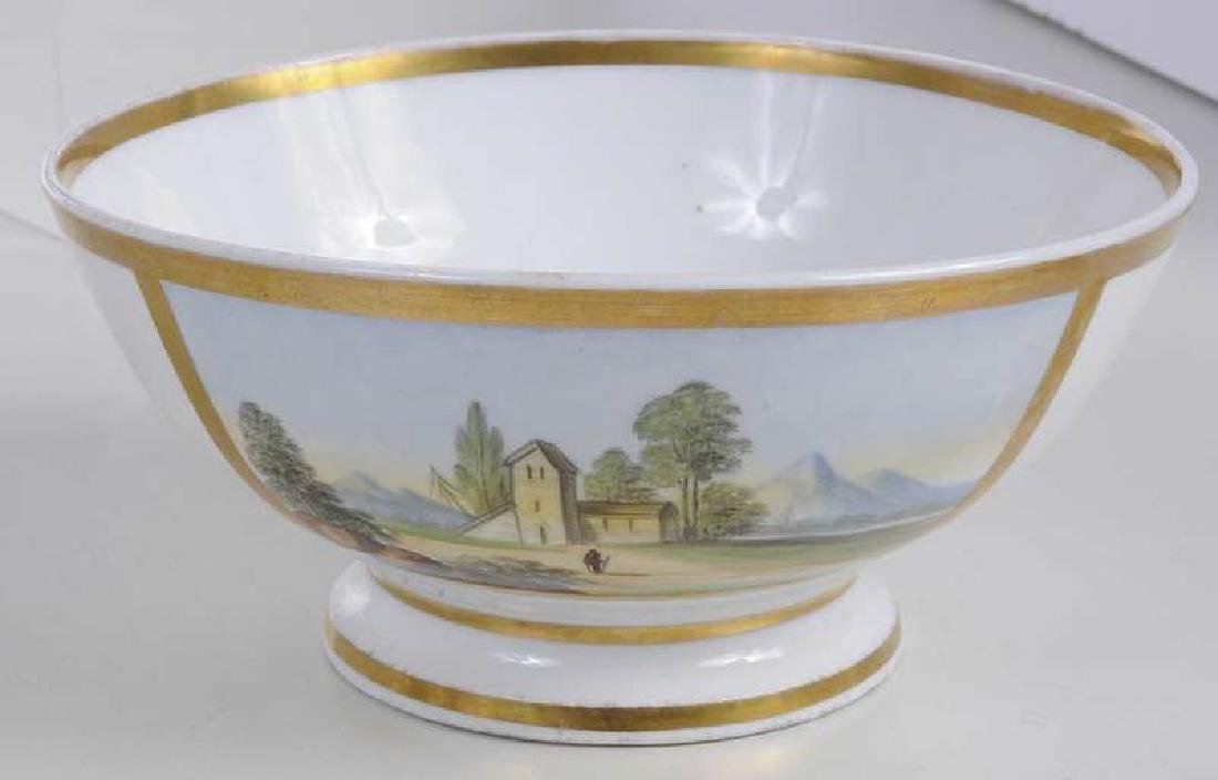 Four Scenic Decorated Porcelain Table Objects - 5