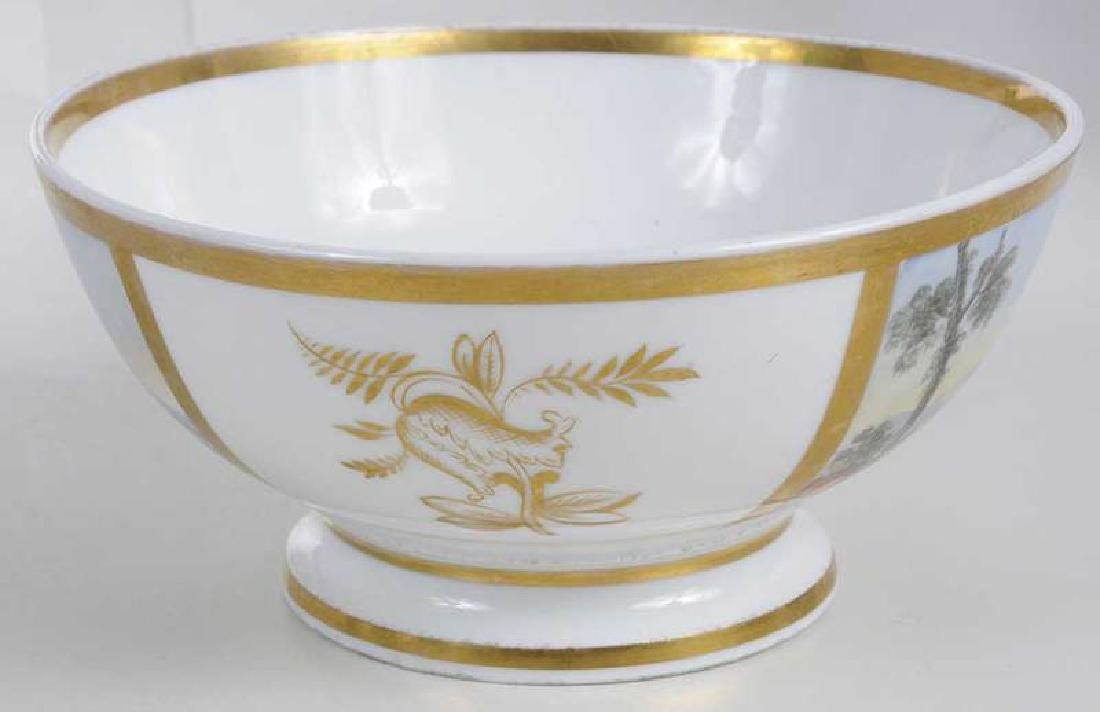 Four Scenic Decorated Porcelain Table Objects - 6
