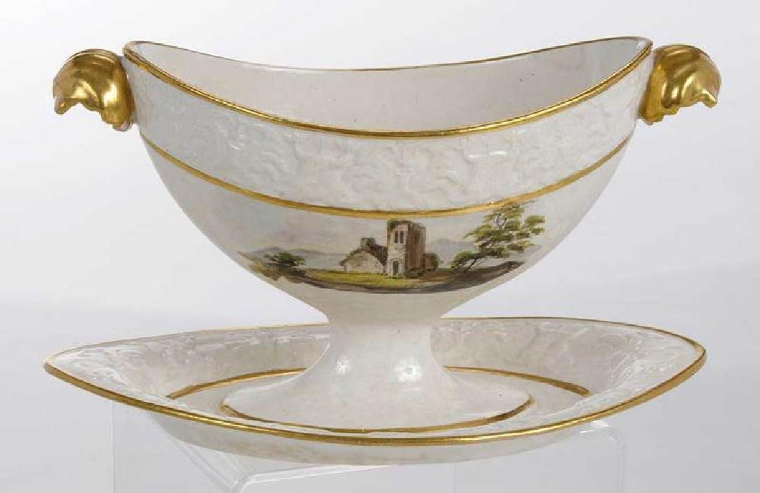 Four Scenic Decorated Porcelain Table Objects - 8