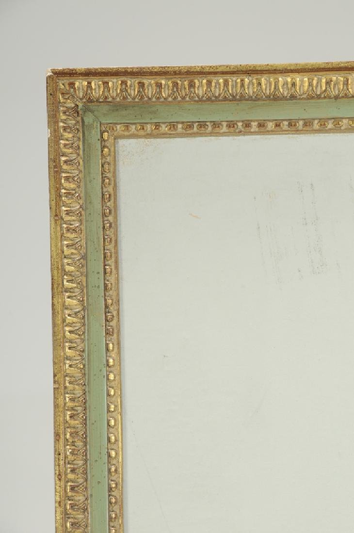 Pair Empire Style Block Printed Framed Panels - 3