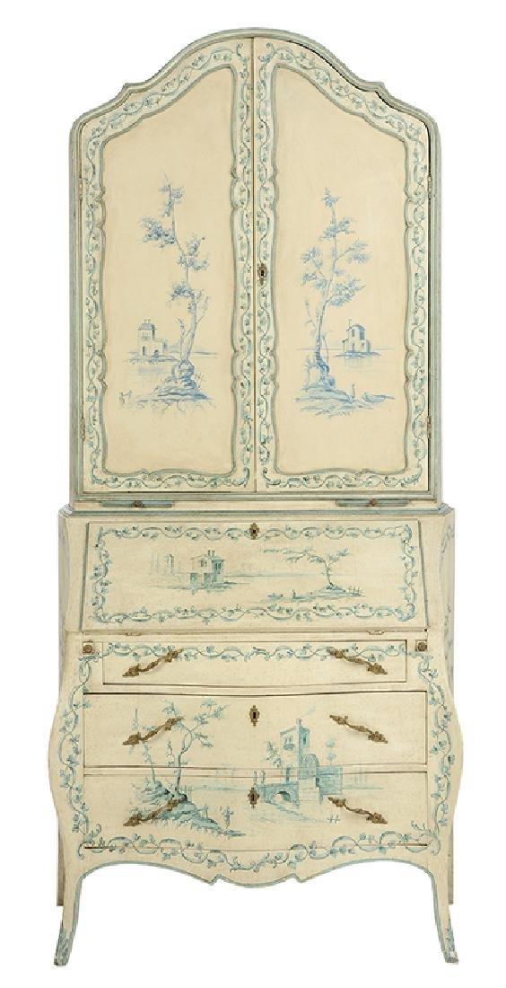 Venetian Style Paint Decorated Secretary
