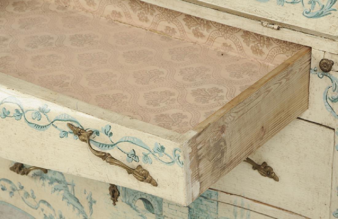 Venetian Style Paint Decorated Secretary - 6
