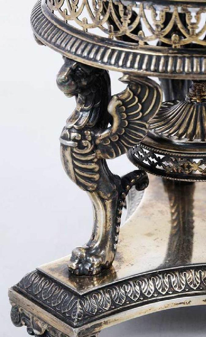 Continental Gilt Silver and Glass Centerbowl - 3