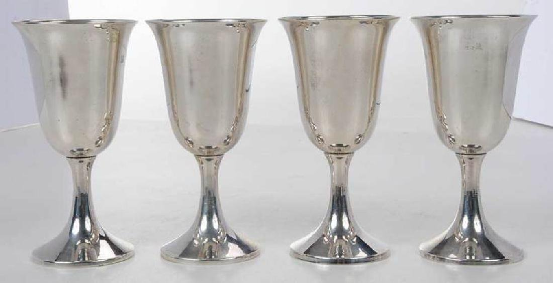 Set of Eight Sterling Goblets - 7