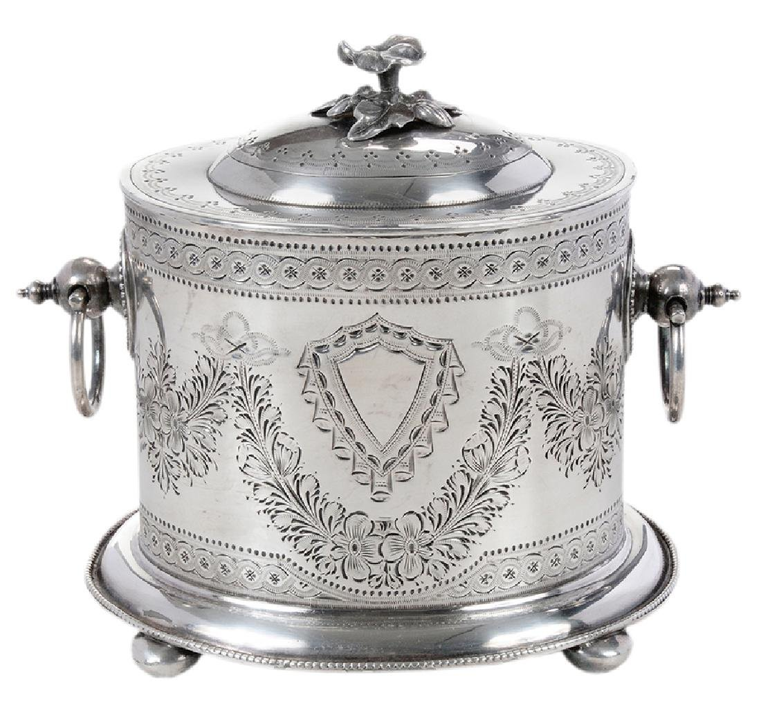 Silver-Plate Biscuit Box