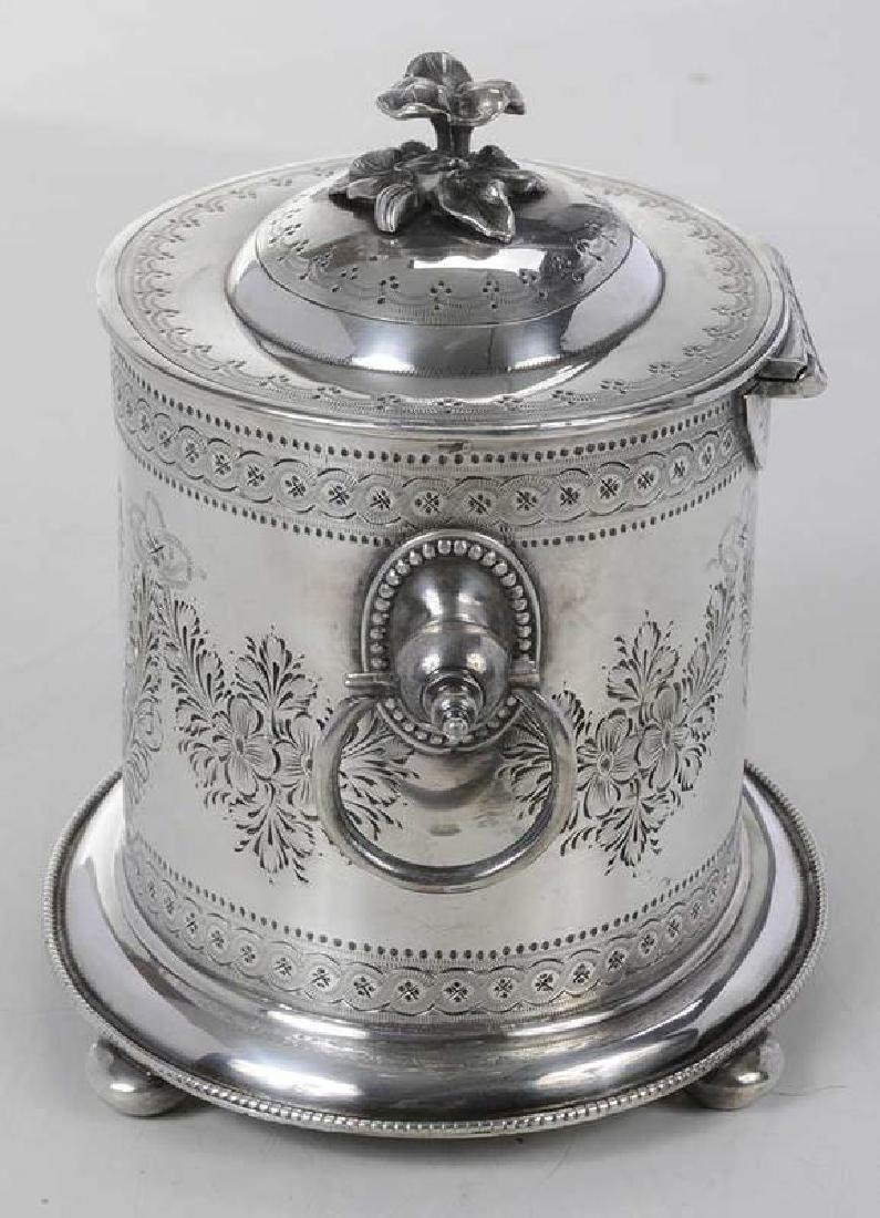 Silver-Plate Biscuit Box - 3