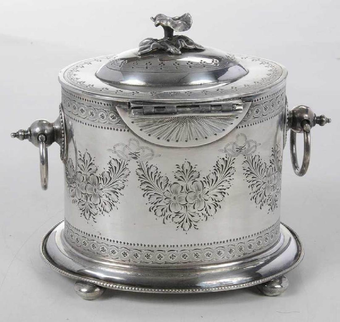 Silver-Plate Biscuit Box - 4