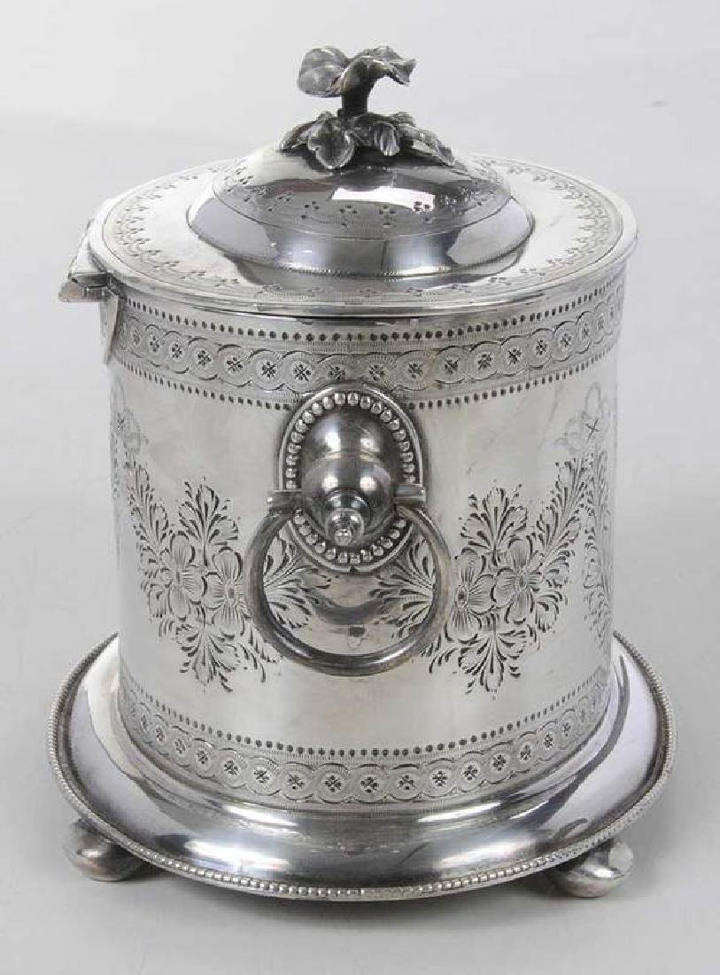 Silver-Plate Biscuit Box - 5
