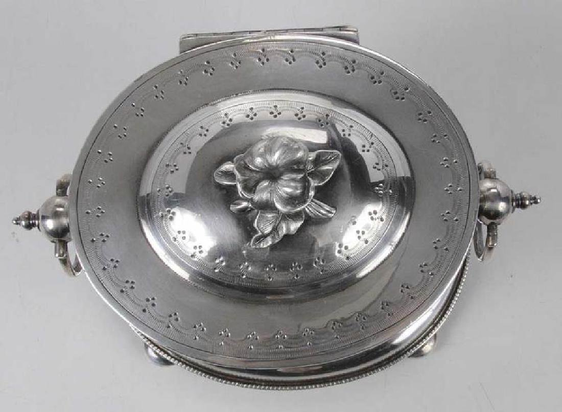 Silver-Plate Biscuit Box - 7