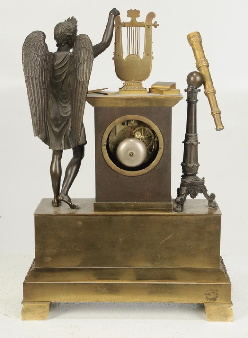 Empire Gilt Bronze Clock Garniture Set - 10