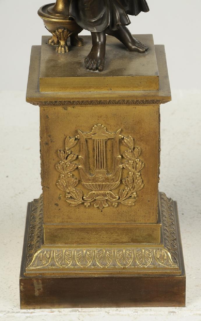 Empire Gilt Bronze Clock Garniture Set - 5