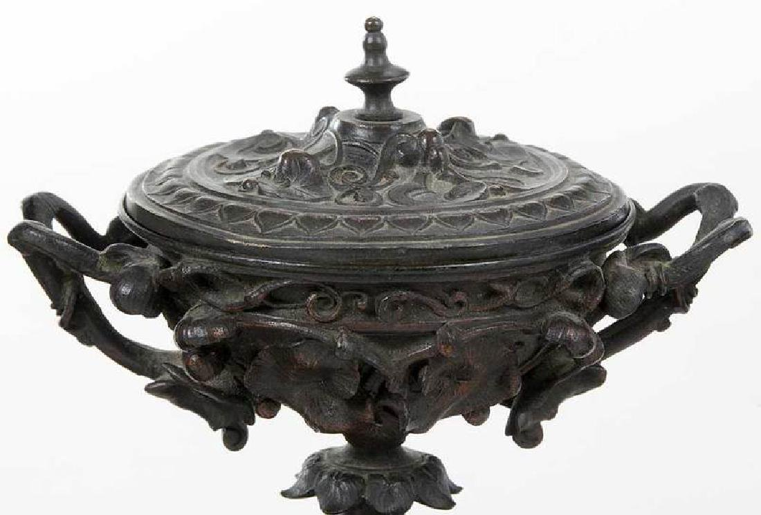 Two Pair Grand Tour Bronze And Marble Garnitures - 4