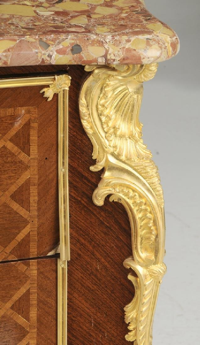 Louis XV Style Parquetry Inlaid Commode - 4