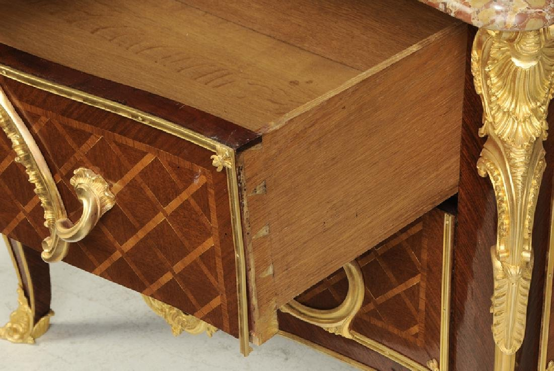 Louis XV Style Parquetry Inlaid Commode - 5