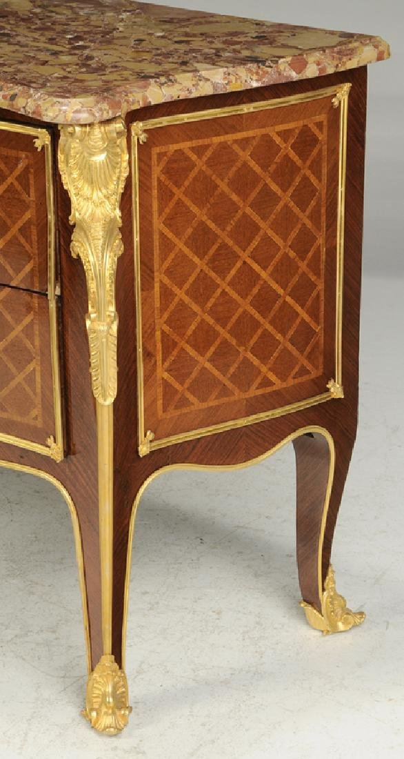 Louis XV Style Parquetry Inlaid Commode - 8