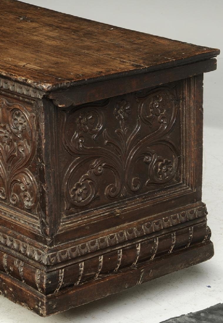 Baroque Carved Walnut Lift Top Coffer - 2