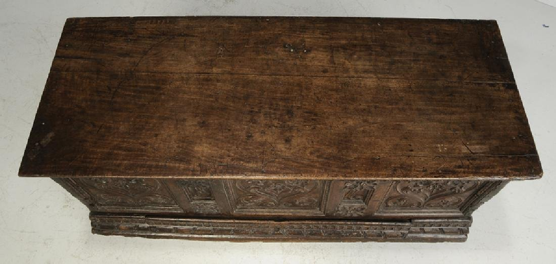 Baroque Carved Walnut Lift Top Coffer - 4