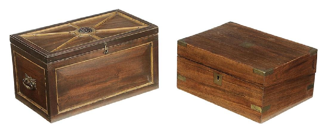 Two Continental Mahogany Wooden Boxes
