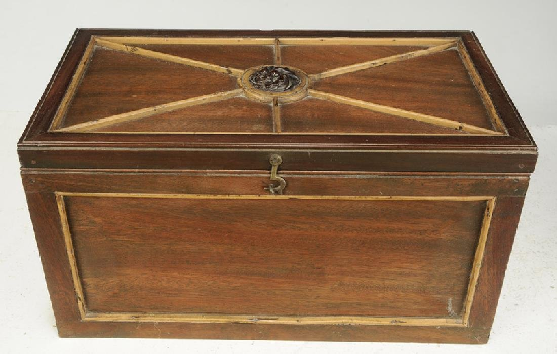 Two Continental Mahogany Wooden Boxes - 2
