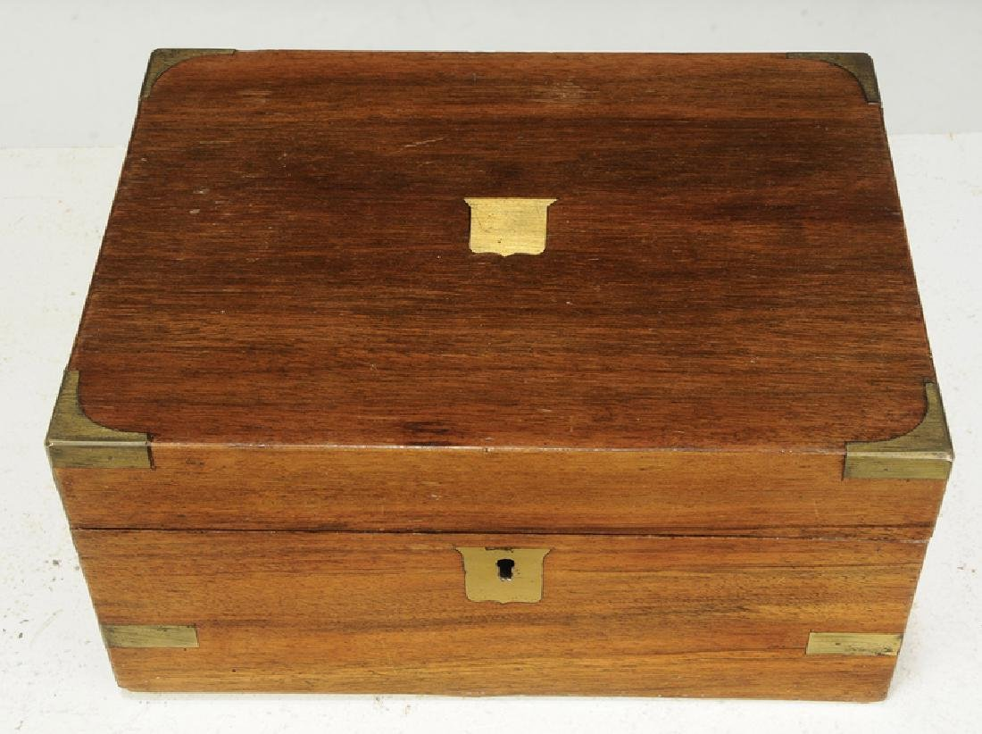 Two Continental Mahogany Wooden Boxes - 4