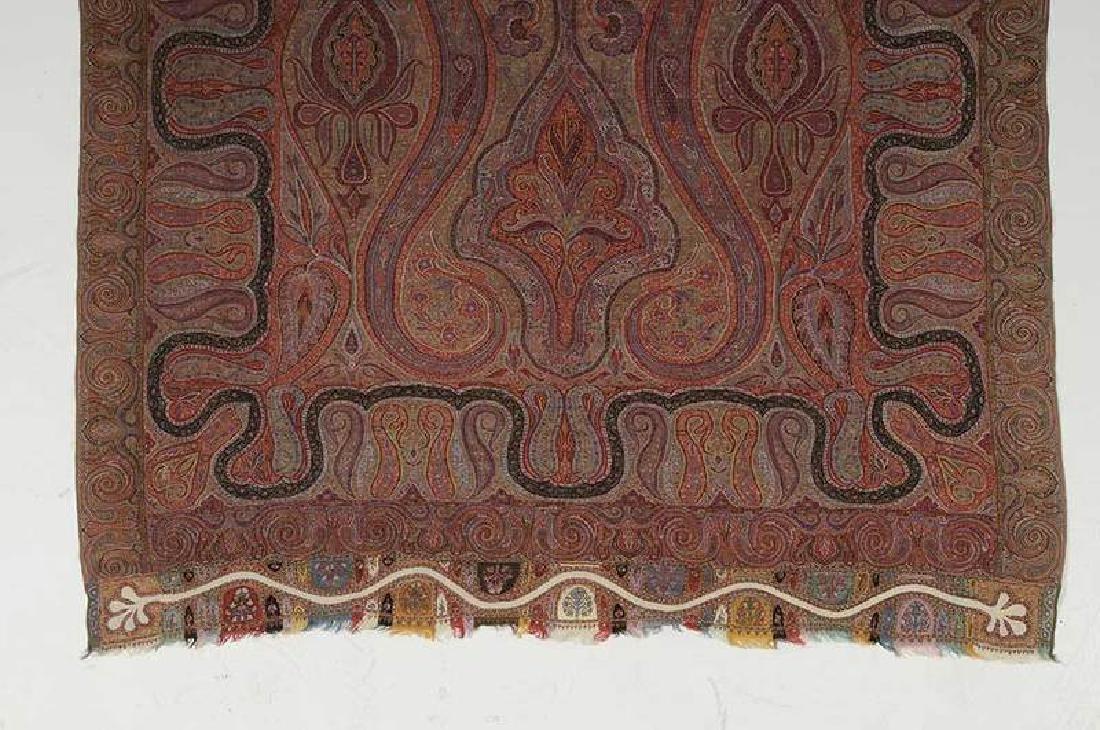 Fine Paisley Wool Shawl - 3
