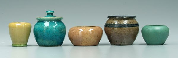 5: Five pieces North Carolina pottery: