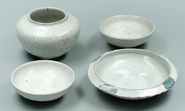 12: Four Ben Owen pottery bowls,