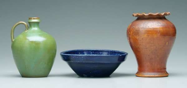 17: Three pieces North Carolina pottery:
