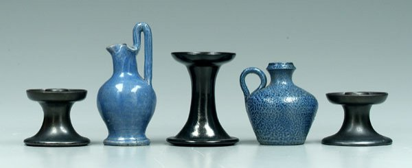 18: Five pieces North Carolina pottery: