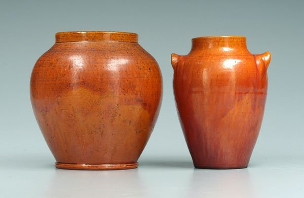 23: Two Seagrove area pottery vases: