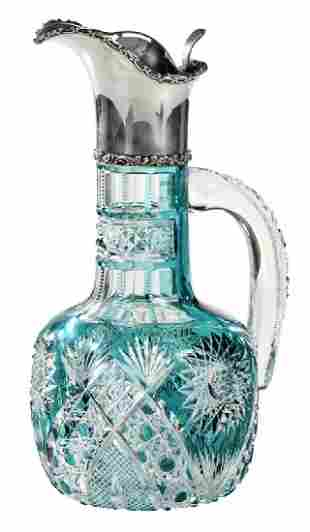 Hawkes Brilliant Period Cut Glass Ewer