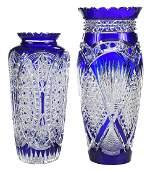 Two Brilliant Period Cut Glass Vases