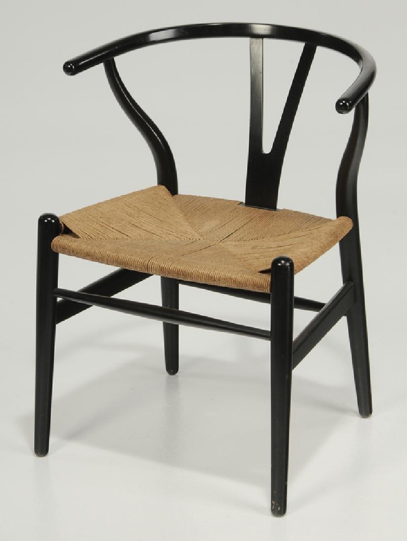 "Set of six Hans Wegner ""Wishbone"" Dining Chairs - 3"