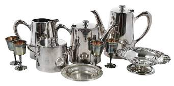 Ten Silver Table Items Including Christofle